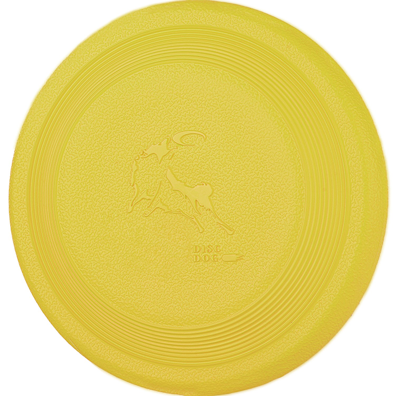 DISCDOG Bite-Resistant Jawz Dog Flying Disc Toy Tough Floatable Dog Disk for Golden Retriever Husky Samoyed Malinois Border Collie (7-2/25 Inch, Yellow)