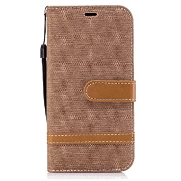 Flip Case for Samsung Galaxy S8 Leather Cover Business Gifts Wallet with Extra Waterproof Underwater Case