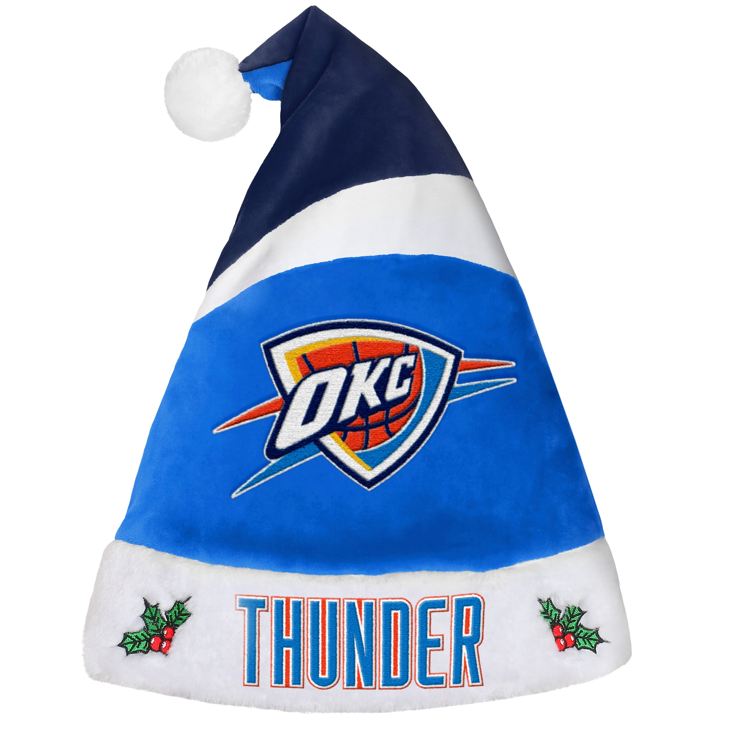 Oklahoma City Thunder Basic Santa Hat - 2016