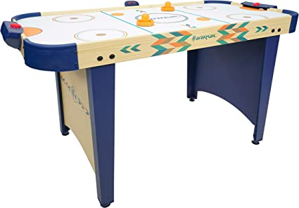 Amazon Com Harvil 4 Foot Air Hockey Game Table For Kids And Adults With Electronic Scorer Free Pushers And Pucks Sports Outdoors