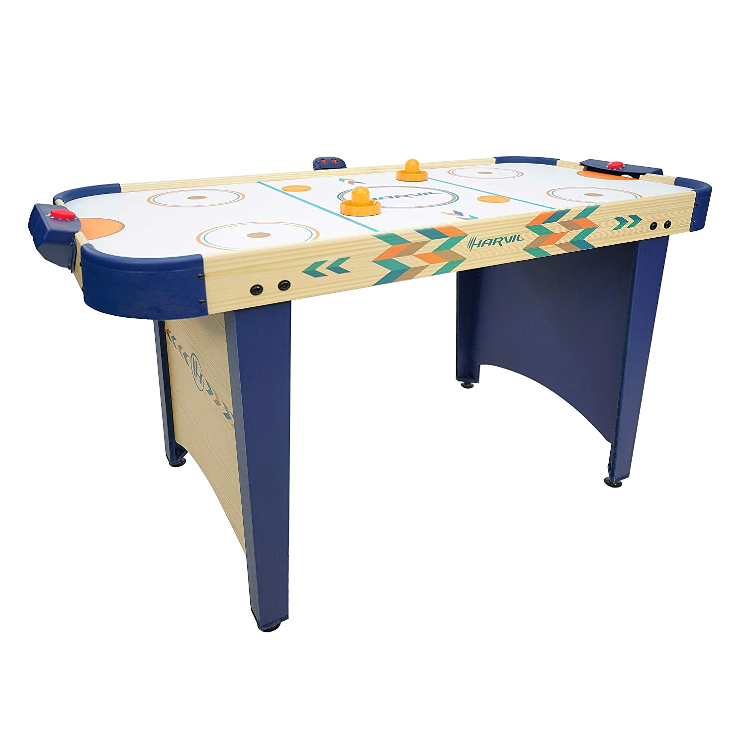 Harvil 4 Foot Air Hockey Game Table for Kids and Adults with Electronic Scorer, Free Pushers and Pucks