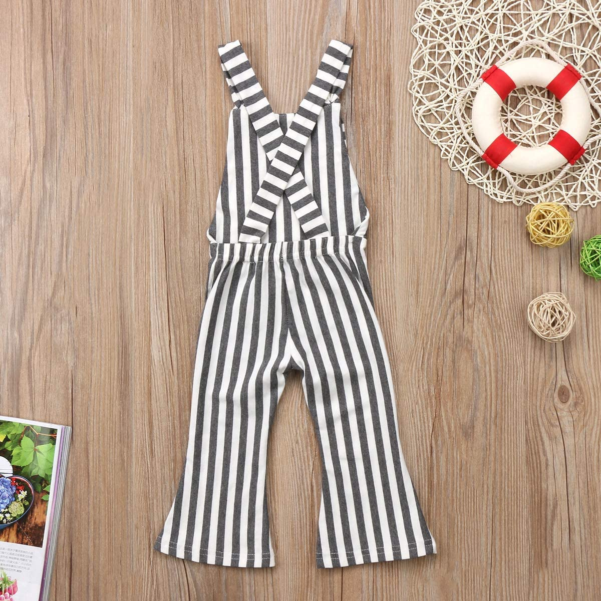 Douhoow Toddler Kids Baby Girls Suspender Jumpsuit Overalls Long Pants Outfits Clothes