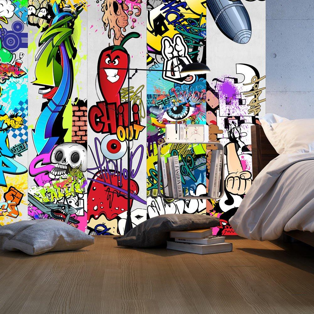 murando PURO TAPETE selbstklebend 10m Wandtattoo dekorative M/öbelfolie Dekorfolie Fotofolie Panel Wandaufkleber Wandposter Wandsticker Graffiti f-A-0257-j-a
