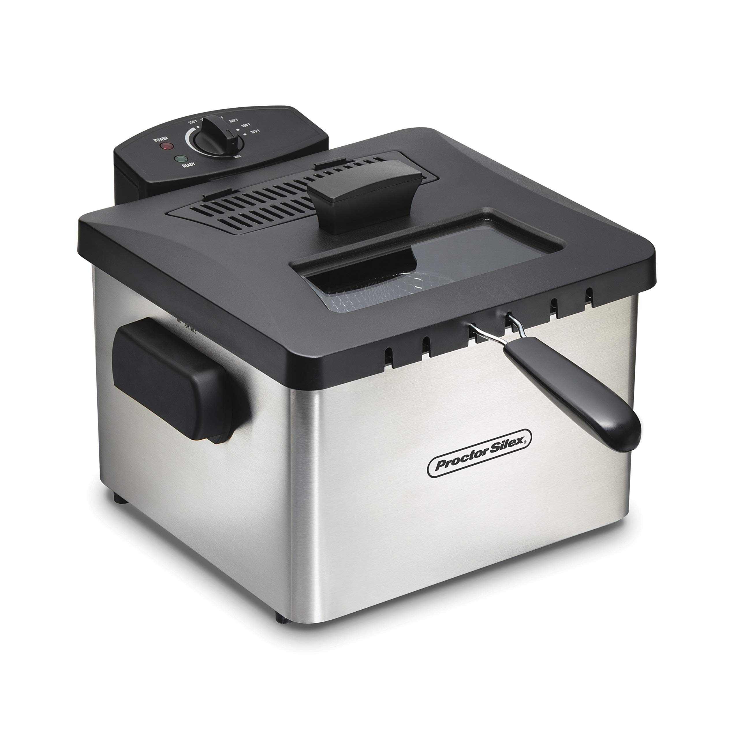 Proctor Silex 35044 Professional-Style Deep Fryer with 5 L Capacity, Silver by Proctor Silex