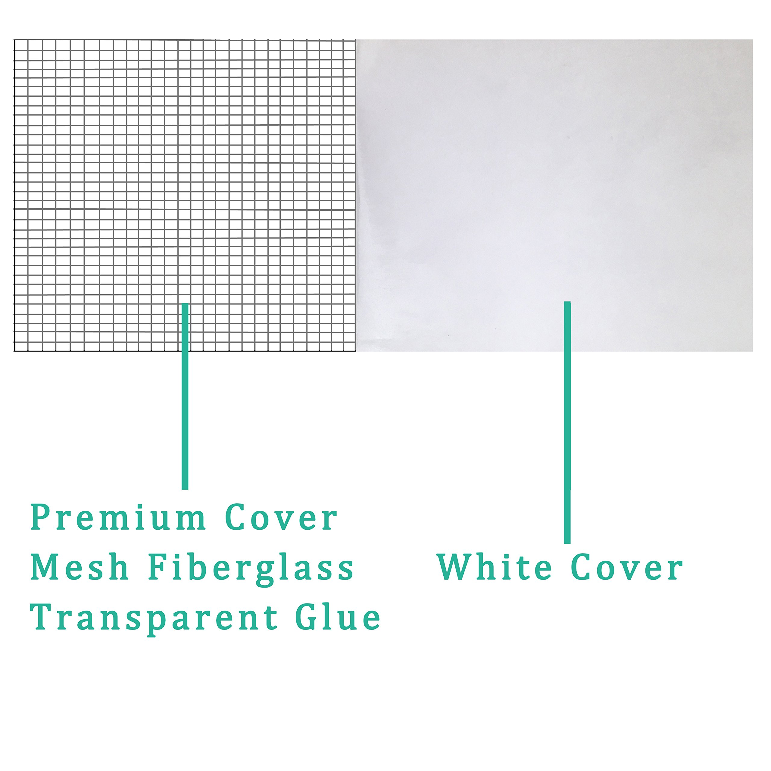Screen Repair Tape, Window Screen Repair Kit, Strong Self-Adhesive Tape Fiberglass Mesh Tape Repair Small Hole Easy Install 30 Seconds Fix Your Screens (Black)