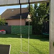 eichhorn 100004503 outdoor holz brettschaukel h henverstellbar 140 210 cm bis 60 kg. Black Bedroom Furniture Sets. Home Design Ideas