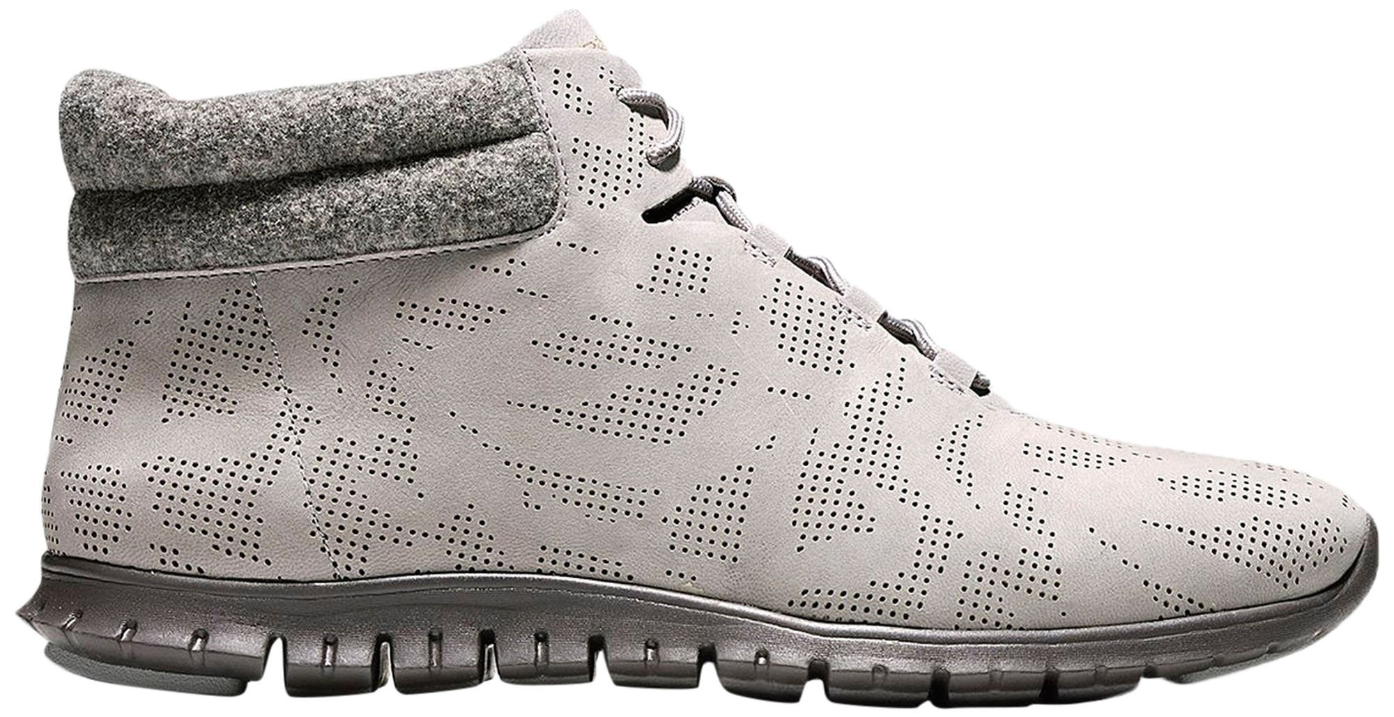 Cole Haan Women's ZEROGRAND Winterized Perforated Chukka 7 Ironstone-pavement by Cole Haan