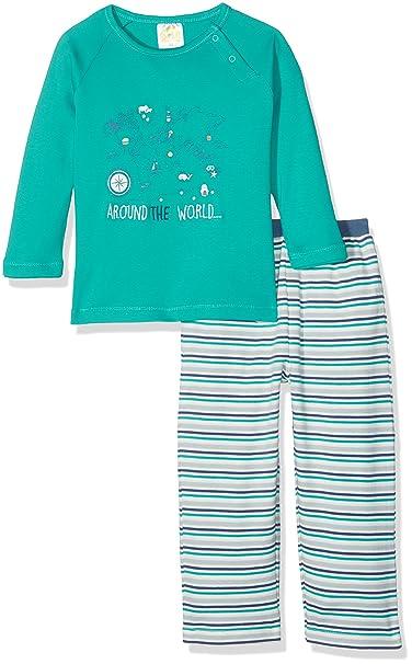 DIMO-TEX Pyjama Around The World 2tlg, Conjuntos de Pijama Unisex bebé, (