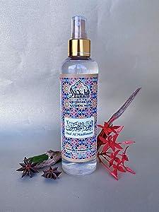 Dukhni Oud Al Madhmoon Attar Al Faraash 250ml - Non Alcoholic Air Freshener & Linen Spray. Perfect for Prayer mat, Home linens, Spraying in The Room & Fabrics. 100% Halal & Alchohol Free