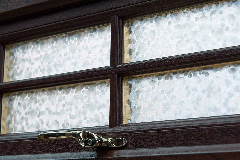 17 x 78 Roll Pearl d-c-fix 346-0276 Self-Adhesive Privacy Glass Window Film
