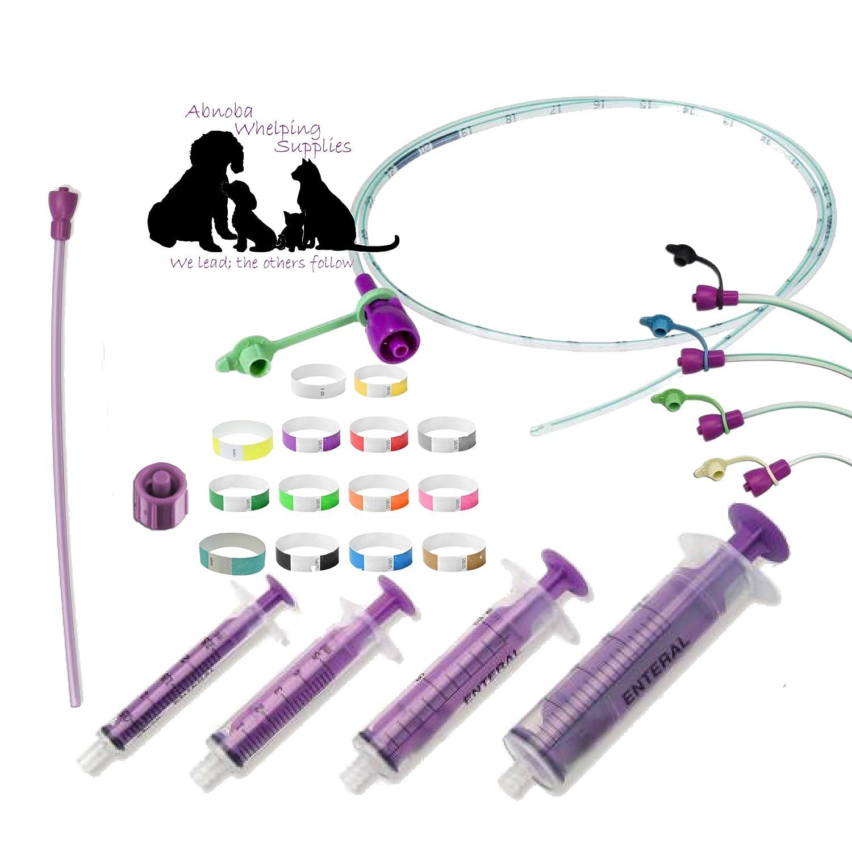Sterile Tube Feeding Kit 4 French (1.33mm) Queening Kitten Toy Breed Prem Pup Small Animal Feeding Tube ABNOBA PET STORE