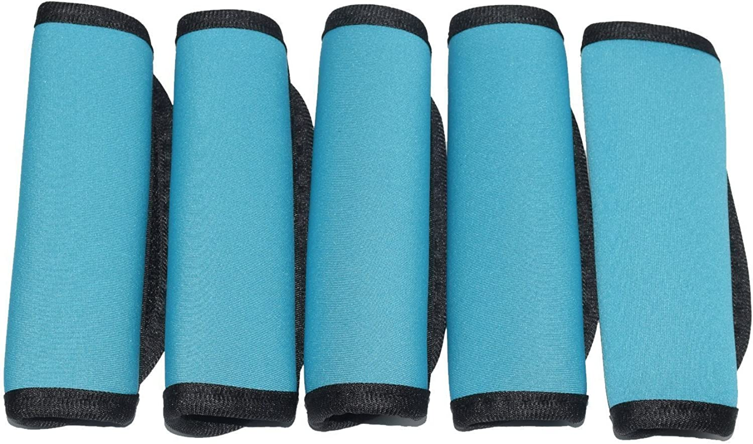 Orchidtent 5 Pack Soft Comfort Neoprene Water-Resistant Handle Wraps/Grip/Identifier/Hand Luggage for Travel Bag Luggage Suitcase (blue)