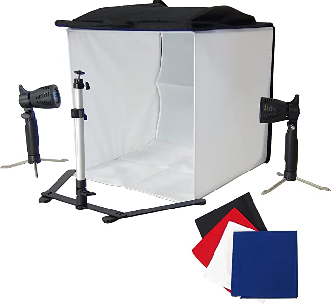 Caja de Luz DynaSun PB05 60x60 con 4 Fondos Pie 2 Foco Luz Lámpara ...