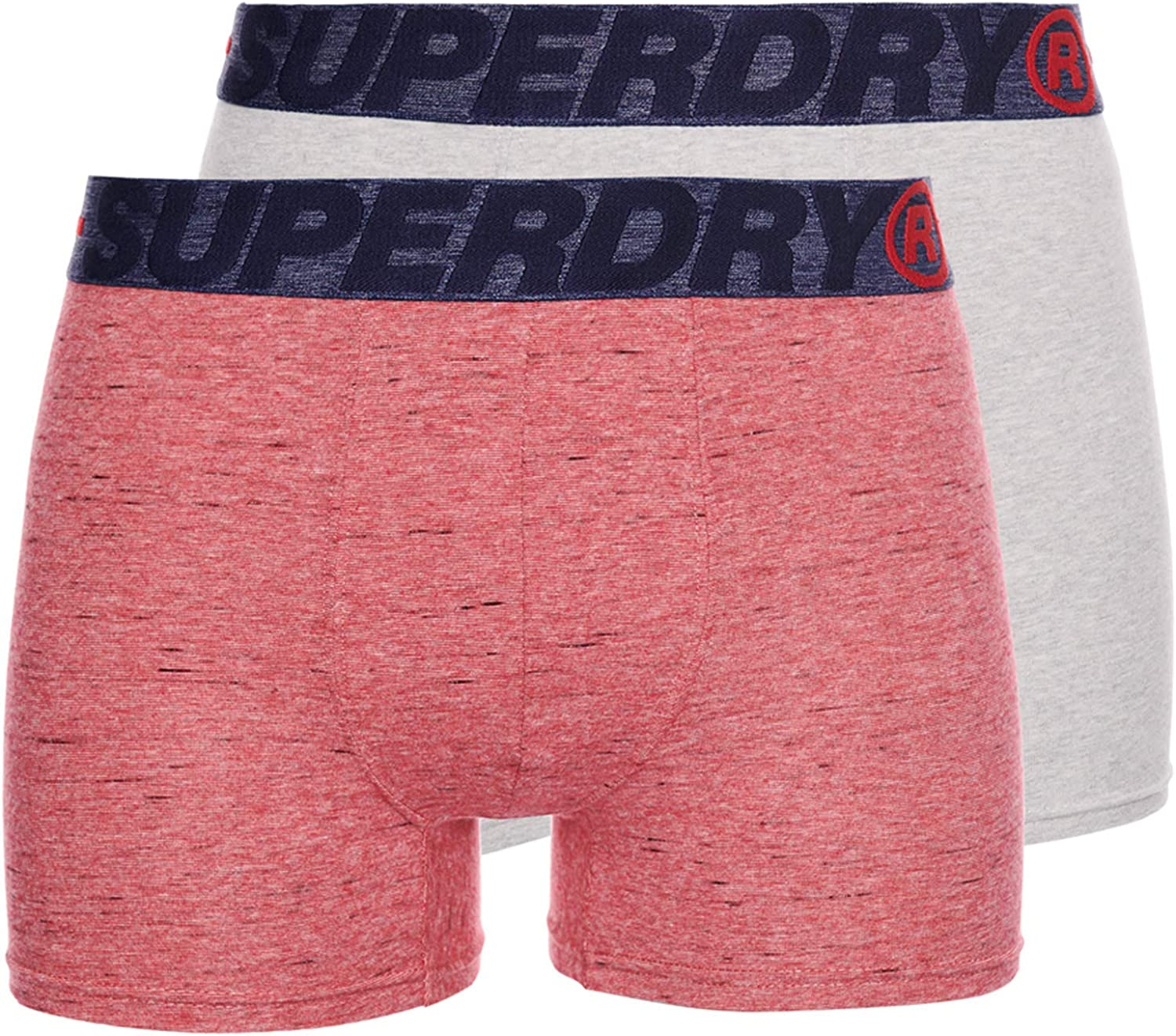 Red Multipack Boxer Shorts Superdry Men/'s Boxers Double Pack Small Medium Large
