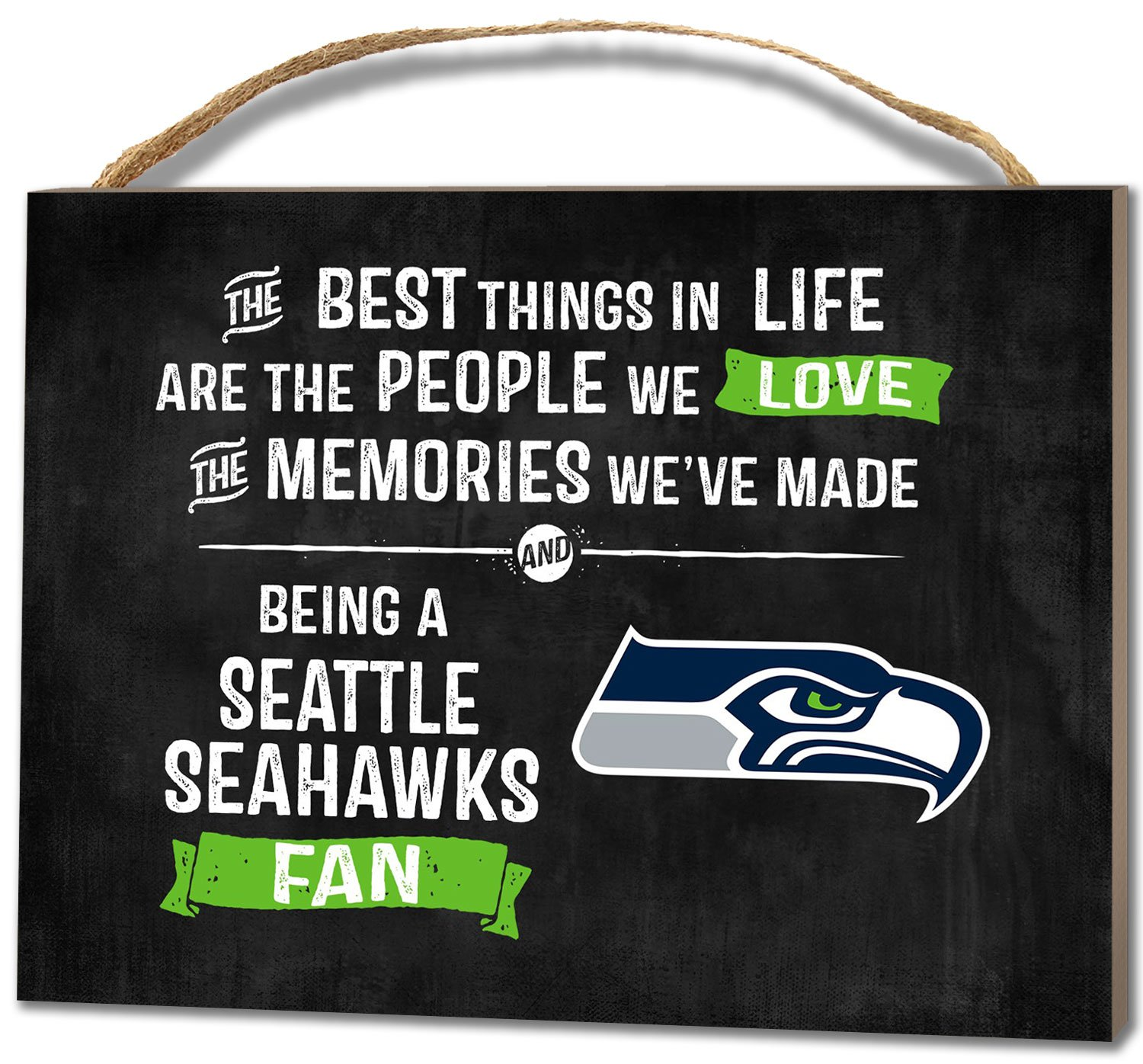 KH Sports Fan 1000101634 4x5.5 Seattle Seahawks Best Things Small NFL Plaque
