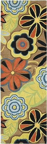 Safavieh Soho Collection SOH743B Handmade Brown and Multi Premium Wool Runner 2 6 x 12