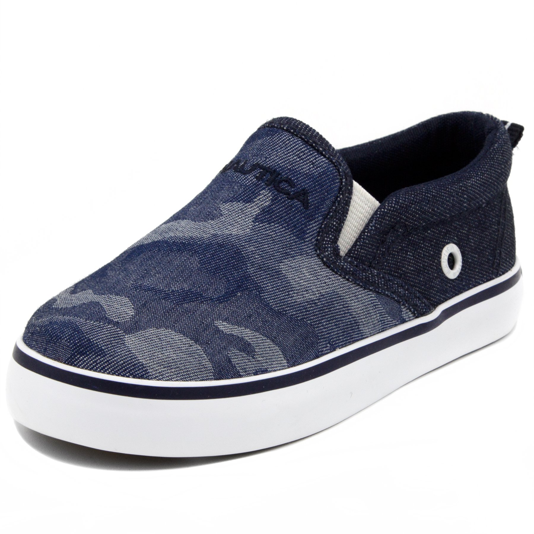 Nautica Akeley Toddler Canvas Sneaker Slip-On Casual Shoes-Denim Camo-5