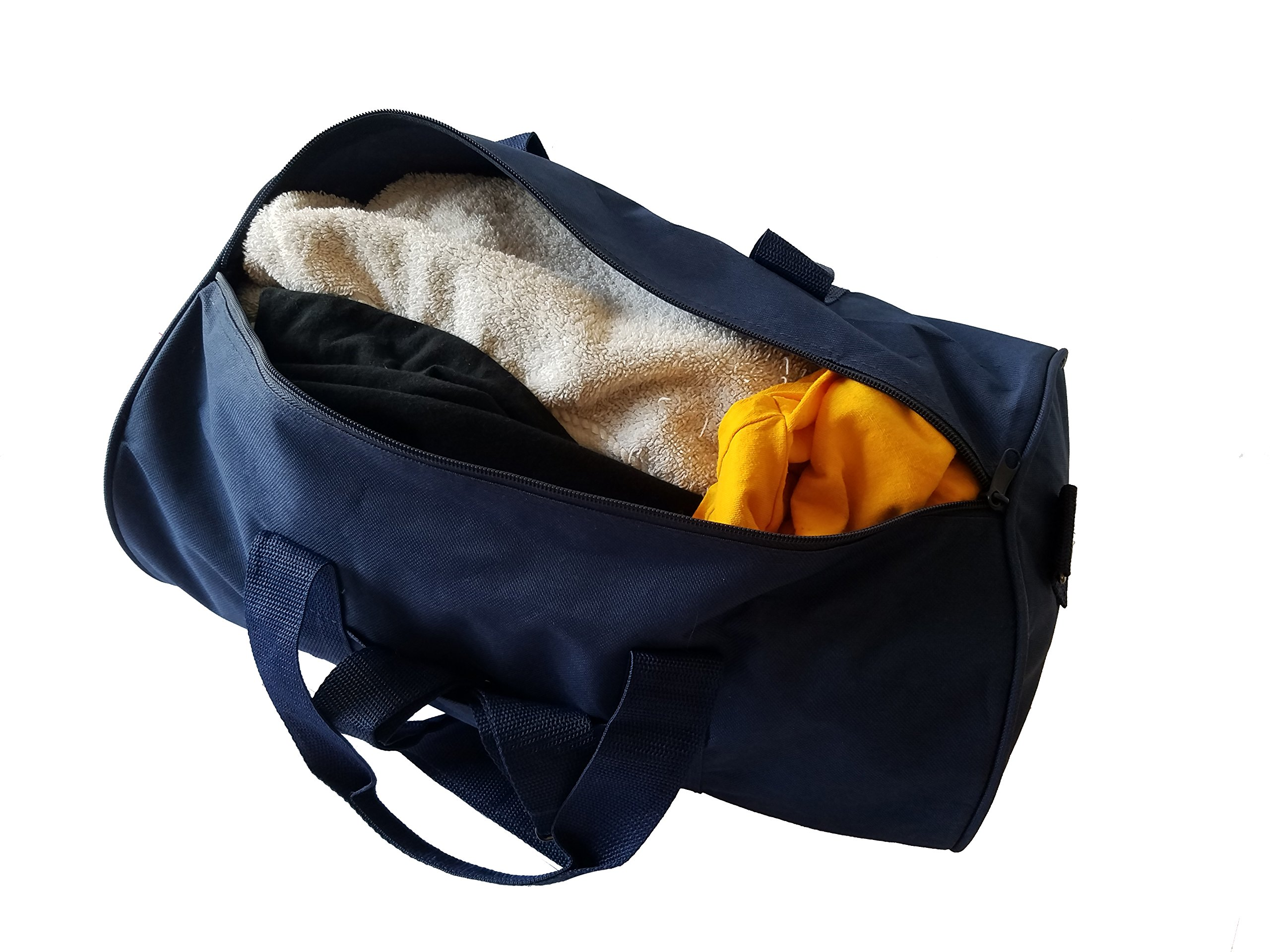 ImpecGear Round Duffel Sports Bags, Travel Gym Fitness Bag. (Navy) by ImpecGear (Image #2)