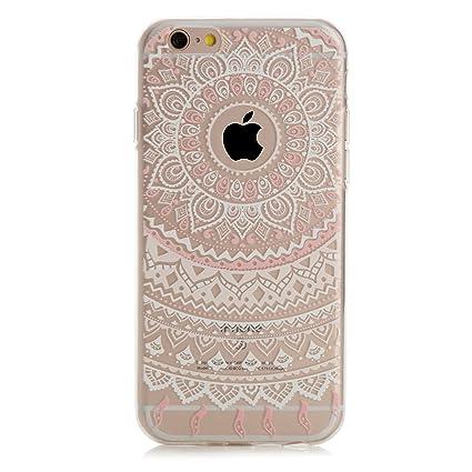 b6ccf1ee89ec86 Arktis Hülle kompatibel mit iPhone 8 und iPhone 7 Traumfänger Mandala Case Schutzhülle  Hülle - Weiß