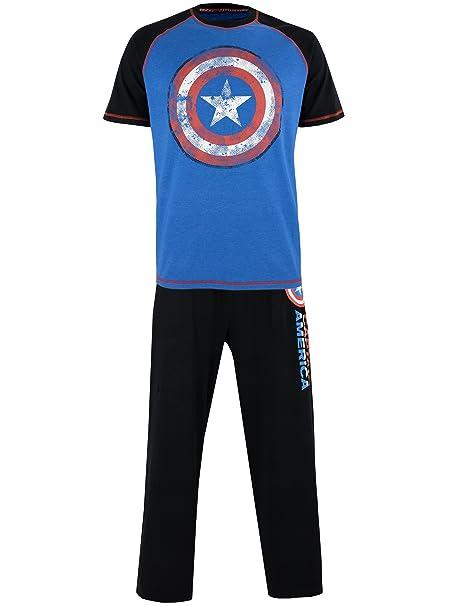 Marvel - Pijama para Hombre - Avengers Capitán América - Small