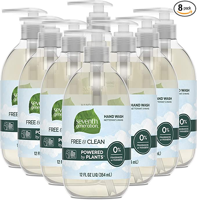 Seventh Generation Hand Soap, Free & Clean Unscented, 12 oz, 8 Pack (Packaging May Vary)   Amazon