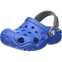 Crocs Unisex Kids Swiftwater Clog, Blue Jean/Slate Grey, 3 US Big Kid (8 - 12 yrs)