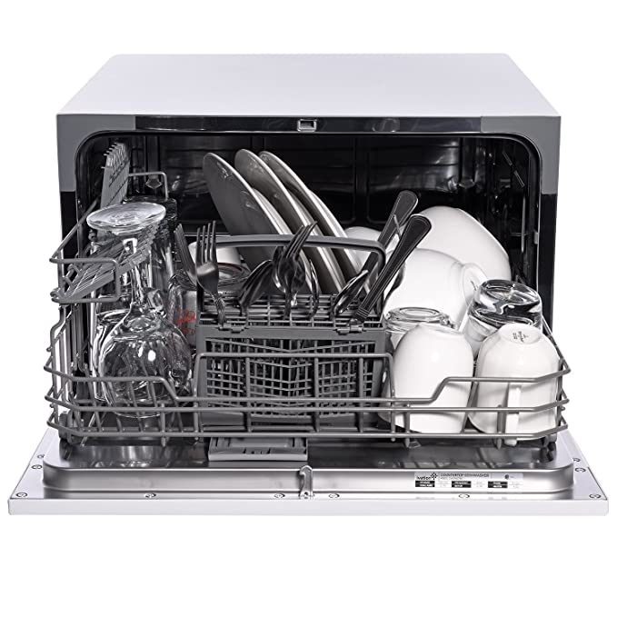 Ivation Portable Dishwasher – Countertop Small Compact Dishwasher for Apartment, Condo, RV, Office & Other Small Kitchens – 6 Place Setting Capacity – ...
