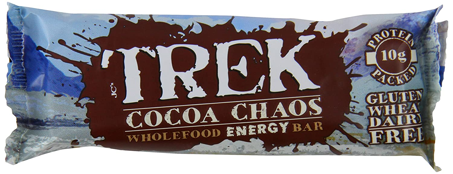 Roll over image to zoom in Trek Cocoa Chaos Bar 55 g (Pack of 16)