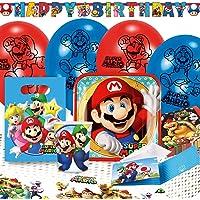 Amscan 9902642 – Super Mario, festporslin, barnens födelsedag