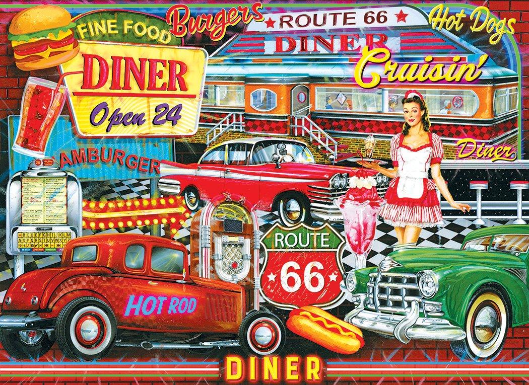 LPF Kodakプレミアムパズル: 50 's LPF Piece Diner 's by Artist :エドワードWargo 1000 Piece Jigsaw B07DH1S3RX, RYUSA GROOVY:bb1a8623 --- ero-shop-kupidon.ru