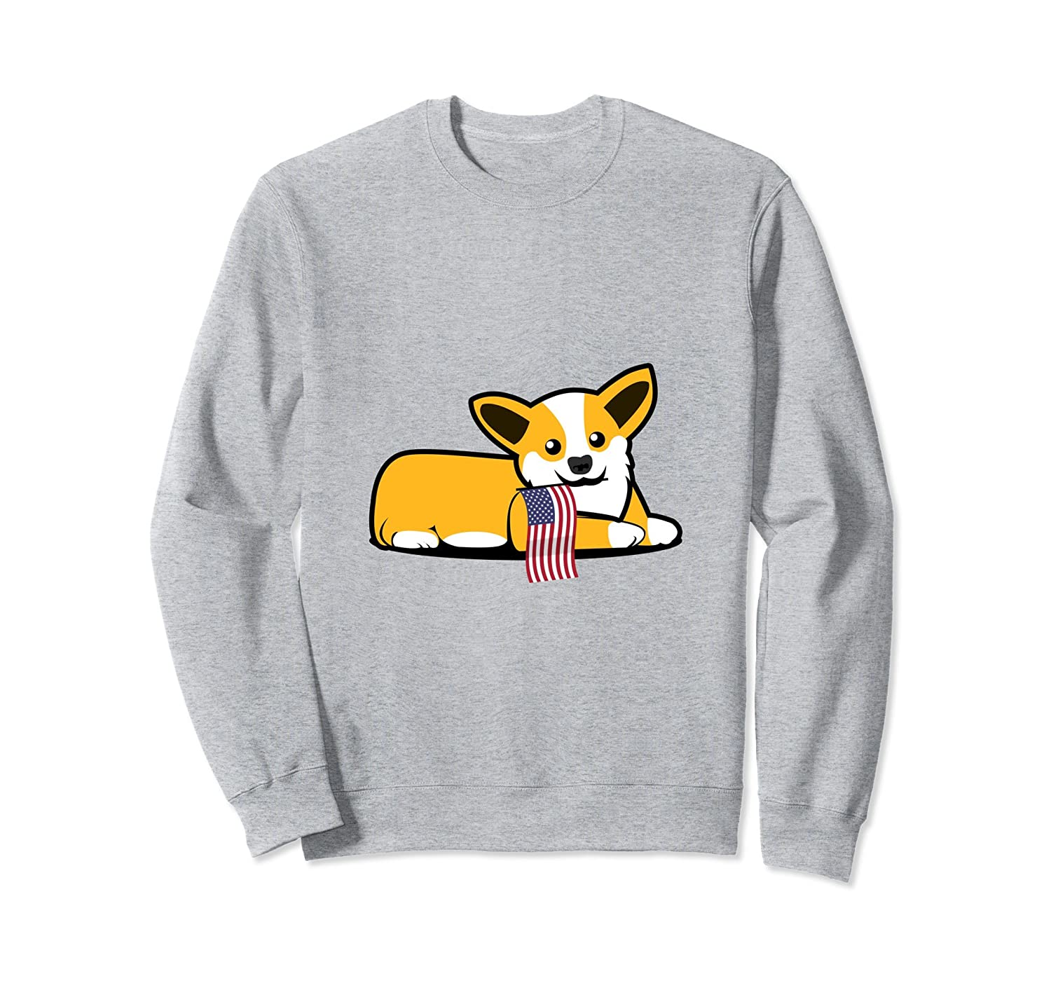 4th OF July Corgi Dog Lover Sweatshirt-mt