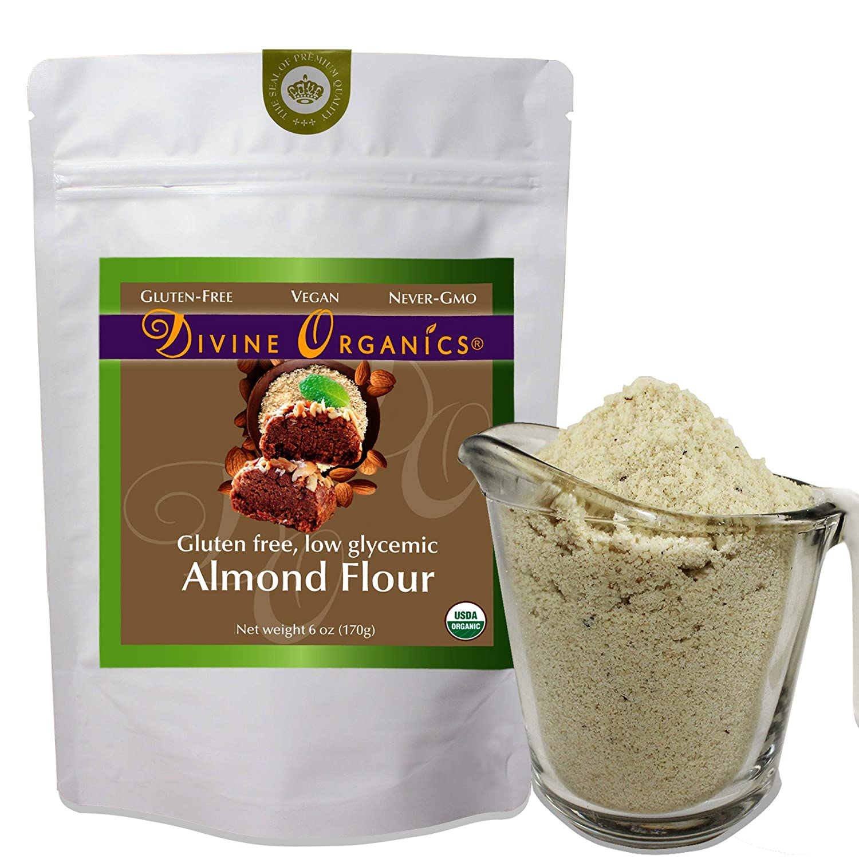 6 oz Organic Almond Flour Powdered Gluten Free Low Glycemic Non-GMO by Divine Organics