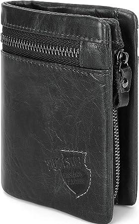 Mens Genuine Soft Quality Leather Wallet Credit Card Holder Purse RFID Sleeve UK