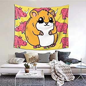 I Love Guinea Pigs Wall Hanging For Room Bedroom Dorm Home Decor Tapestry Bedroom Kids Room Living Room Dorm Office 60x51