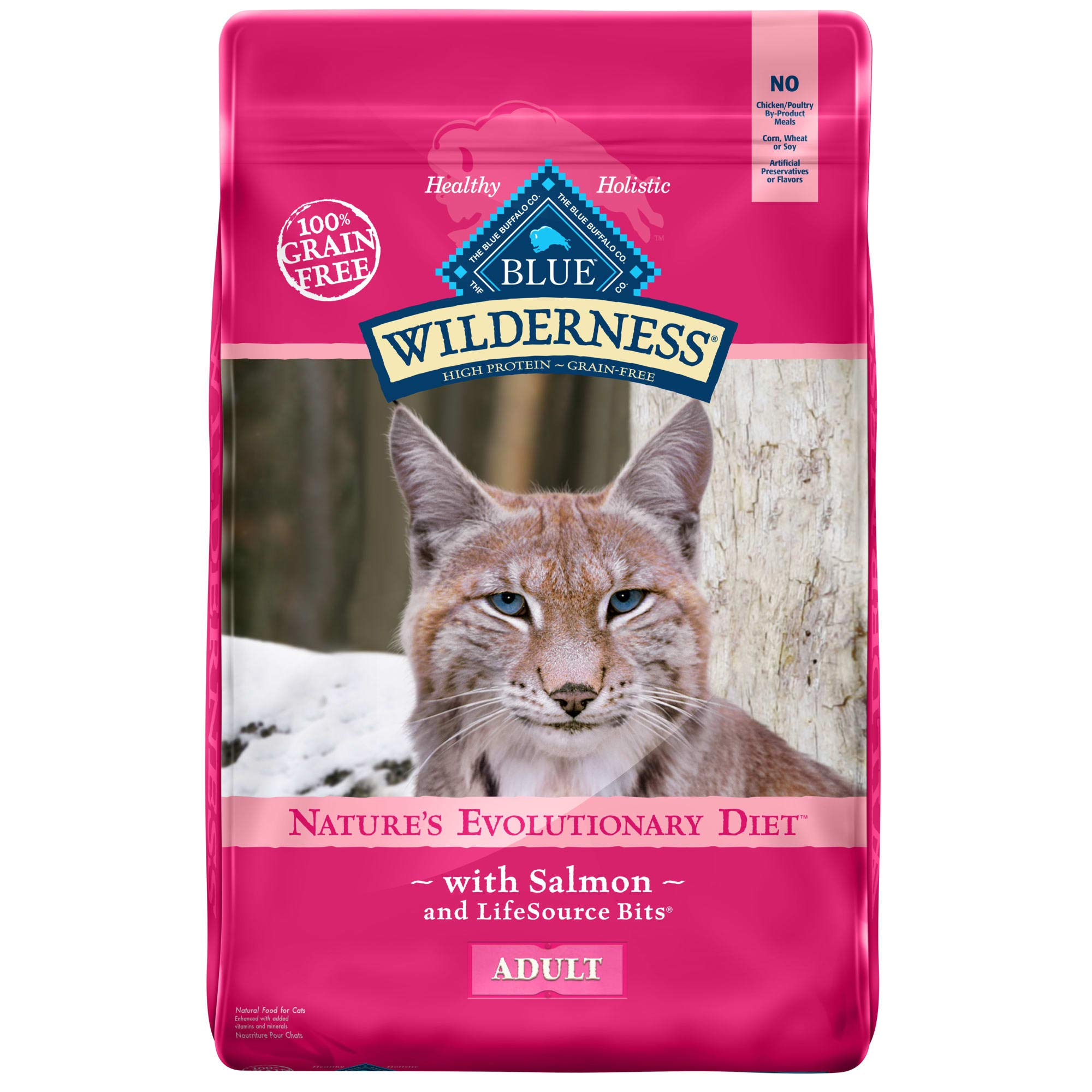 Blue Buffalo Wilderness High Protein Grain Free, Natural Adult Dry Cat Food, Salmon