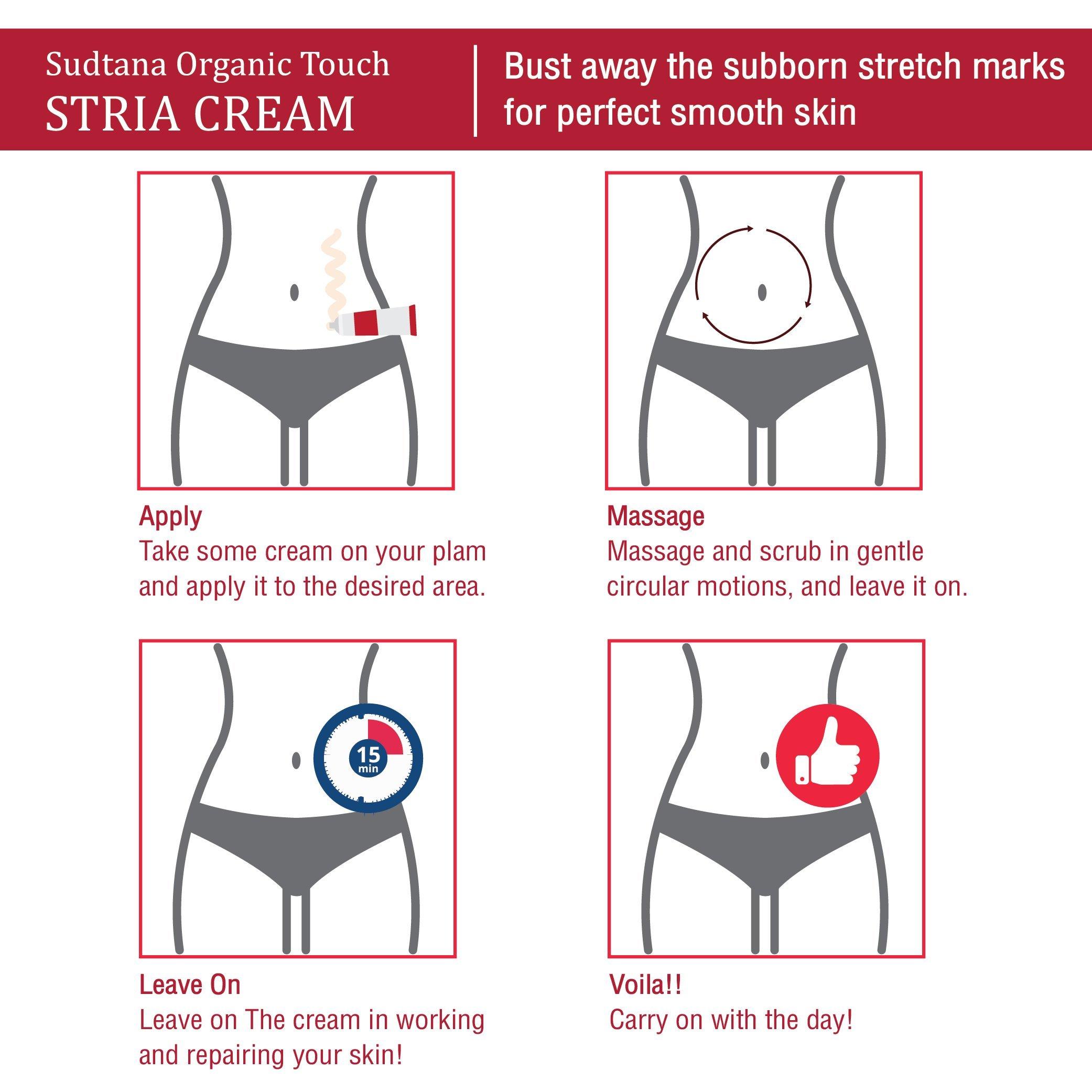 STRIA Natural Stretch Marks, Scar & Dark Spot Remover   Stretch Mark Cream for Skin Hydration, Exfoliation, Tightening & Collagen Boost   Pregnancy Belly Care for Prenatal-Postnatal & Pregnant   3 pcs by GreenTouch (Image #9)