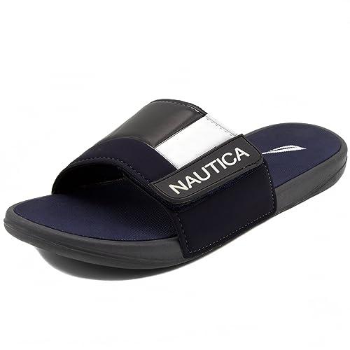 amazon com nautica men s bower athletic slide adjustable straps