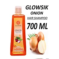 GLOWSIK ONION SHAMPOO (700 ML) WITH APPLE CIDER VINEGAR, ARGAN, AMLA, BHRINGRAJ FOR HAIR GROWTH AND ANTI -DANDRUFF - 700 ML