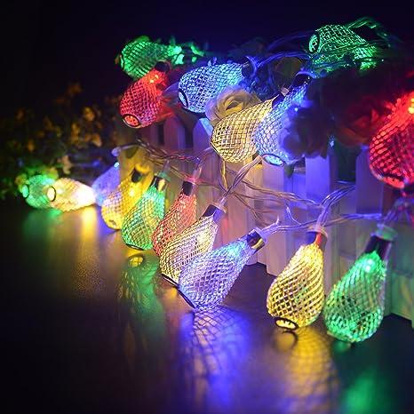 Samoleus - Tira de luces LED, forma fresas de diamante, de 7,5