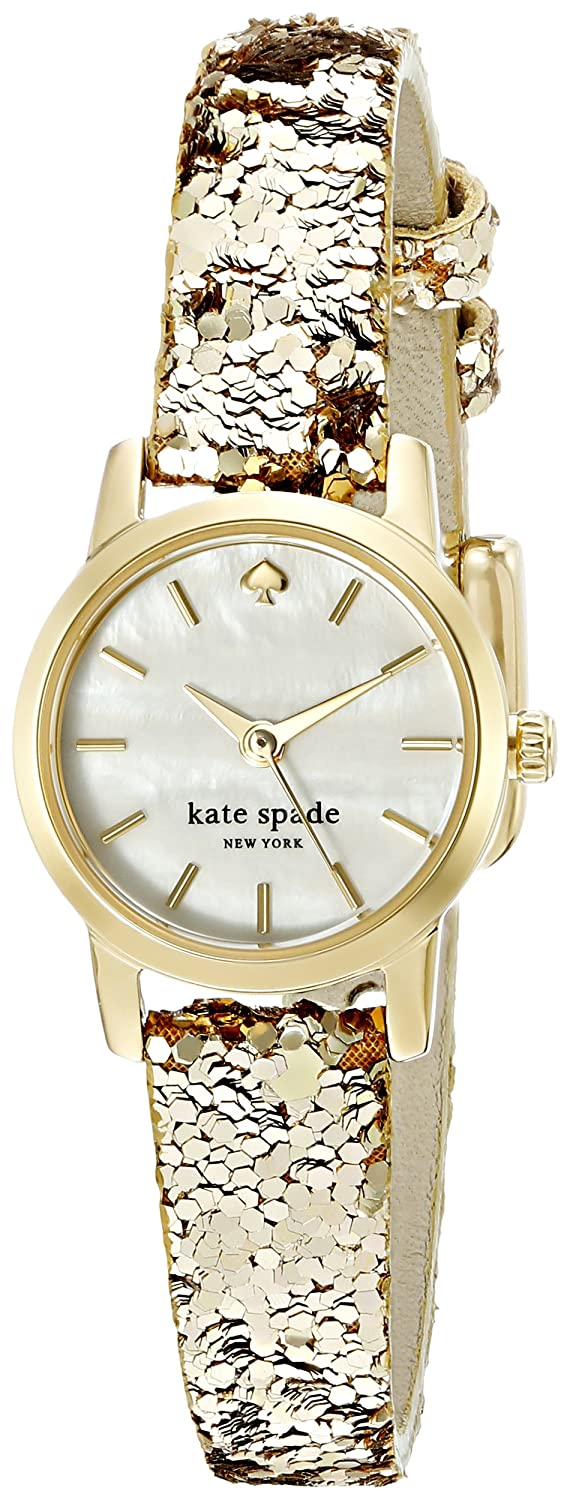 kate spade new york Women s KSW1011 Tiny Metro Analog Display Analog Quartz Gold-Tone Watch
