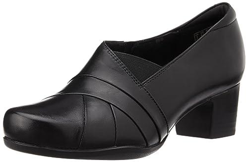 Clarks Rosalyn Adele Black Leather 4 UK D / 37 EU MrrgZGWED