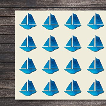 Amazon Com Sail Boat Craft Stickers 44 Stickers At 1 5 Inches
