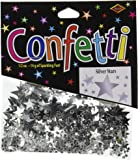 Beistle CN131 Silver Stars Confetti, 1/2-Ounce