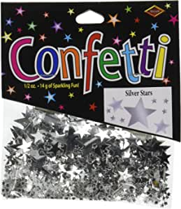 Beistle Stars Confetti Tableware Decorations, Birthday Party Supplies, 0.5 Ounces, Silver