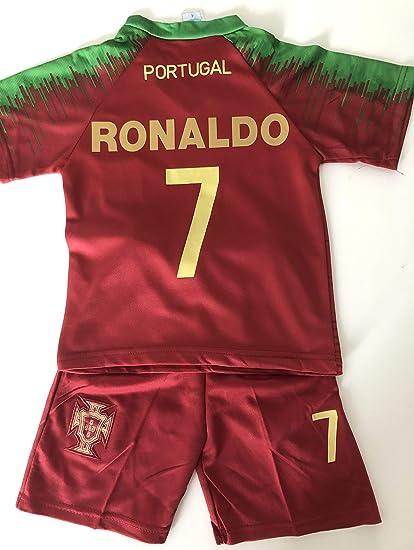 Générique Nouveau Maillot ET Short Foot Portugal Euro 2020 Ronaldo 14 Ans 2 Etoiles