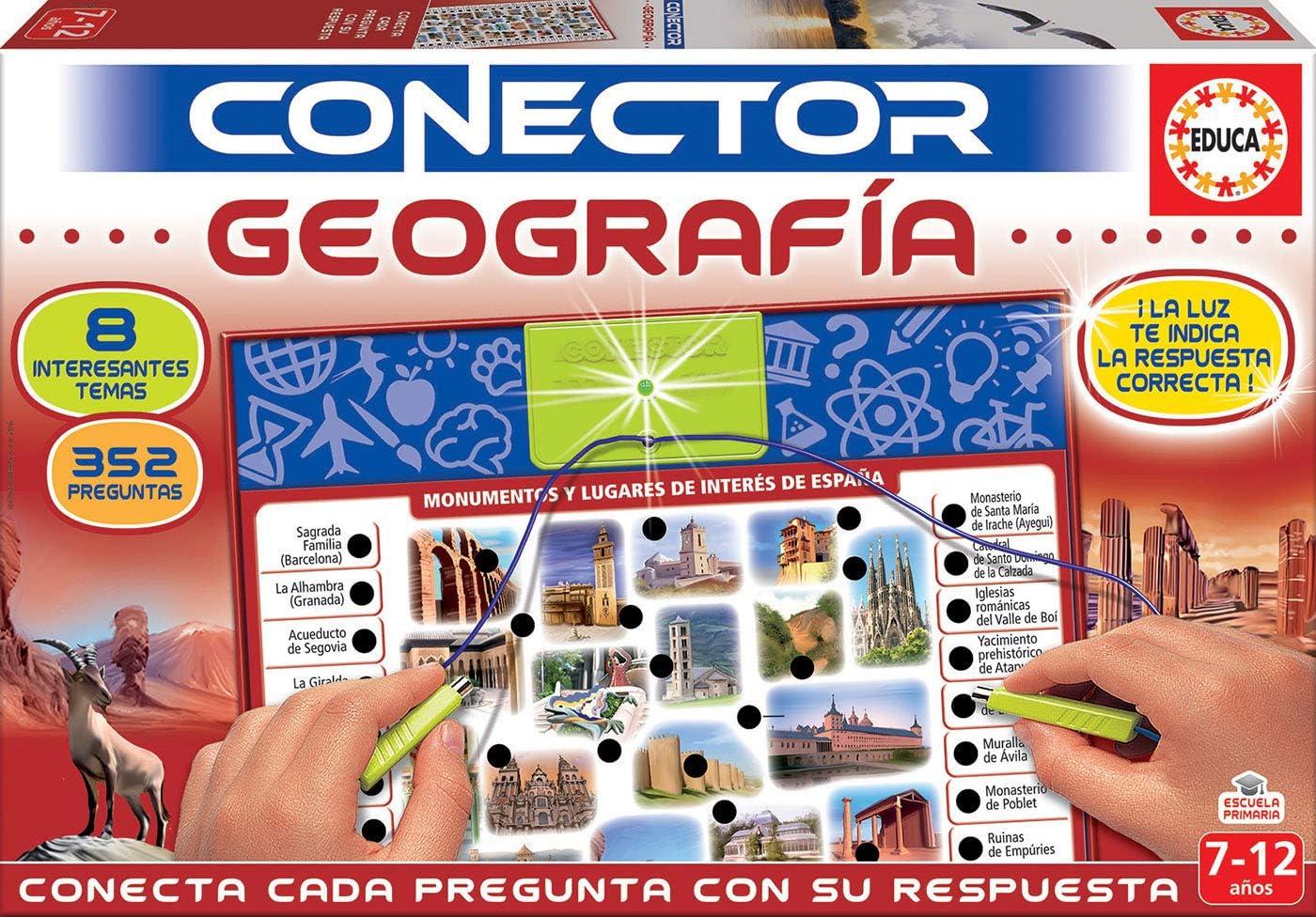 Educa- Conector Geografía Juego Educativo para niños, a Partir de 7 años (17204): Amazon.es: Juguetes y juegos