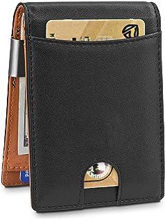 dd75c17d2 Hombre Carteras de Cuero con Money Clip Billetera de Bifold Cartera de  Tarjeta de Crédito