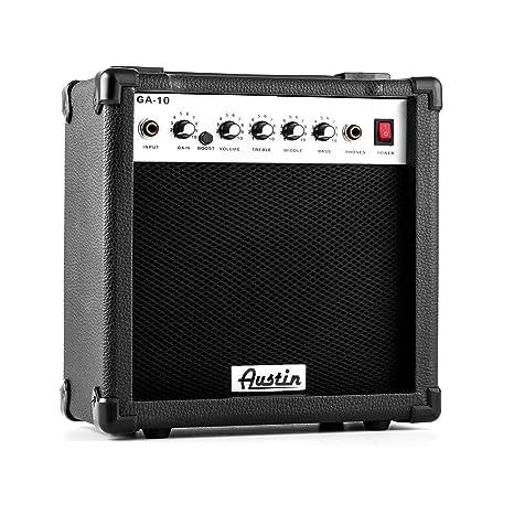 Austin GA-10 Amplificador para guitarra EQ Distorsión Portátil Negro