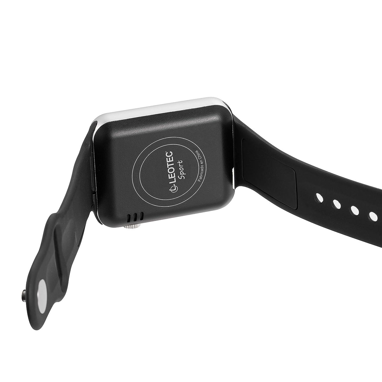 Leotec Smartwatch Sport - Smartwatch,Sim 2g,Camara incorporada, monitor de actividad, Compatible Android y notificaciones inteligentes, color Negro