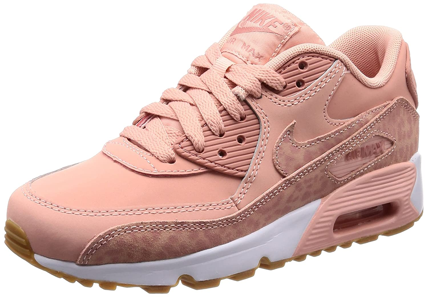 Nike Women's Air Max 90 LTR SE GG Trainers, (Coral Stardust